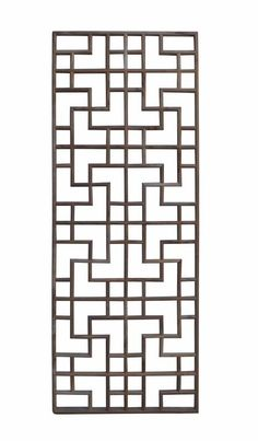 This is a traditional Chinese decorative panel with a geometric pattern in rectangular shape. Dimensions: x thickness Origin: China Material: Solid Elm Wood Condition: Reproduction… Balcony Grill Design, Window Grill Design, Metal Wall Panel, Metal Screen, Wall Panel Design, Door Gate Design, Chinese Patterns, Art Deco, Wood Wall Decor