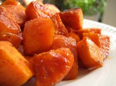 "Spicy Sweet Potatoes: ""Love, love, love these tender roasted sweet potatoes. The spice mix is very mild, so if you're looking for a little bite, kick up the cayenne a notch."" -LaurenLou"