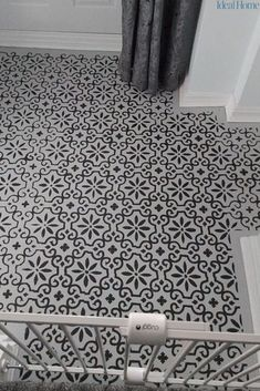 Homeowner transforms floor with Frenchic paint – you won't believe it's not tiles. Looking to make a lasting impression with your hallway decor? After seeing this impressive transformation you'll be ordering Frenchic paint and a tile stencil on next day delivery! The only extra thing you'll need is patience. Here's how... #newhallway #hallwayideas #hometransformations #hometransformationsonabudget #budgethallwayideas #hallwaydecor #tilestencils #impressivehallwayonabudget… Interior Decorating Styles, Hallway Decorating, Decorating On A Budget, Painting Tile Floors, Painted Floors, Victorian Home Decor, Victorian Homes, Living Room Decor Cozy, Wow Products