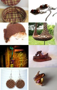 Brown and brown . . .  by Coyawo on Etsy--Pinned with TreasuryPin.com