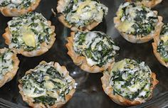 Cooking & Entertaining with Leah: Creamy Spinach and Artichoke Bites
