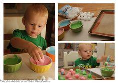 Making Dinosaur Eggs.  HandmadeintheHeartland.com
