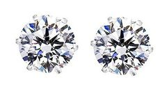 2 CTW Crystal Studs with Swarovski Elements in Sterling Silver Was: $10.19 Now: $5.