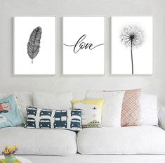 Black and White Dandelion Feathers Poster and Print Letter Love Wall Art Canvas Painting What is Decoration? Decoration may be … Love Wall Art, Framed Wall Art, Wall Art Decor, Canvas Wall Art, Wall Art Prints, White Wall Decor, Wall Paintings, Canvas Prints, Wall Art Sets