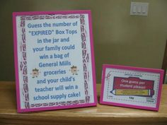Great idea for expired Box Tops -- after cutting and sorting, I have a ton of expired Box Tops :(