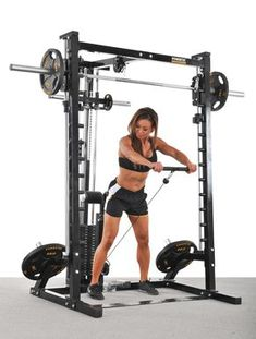 Fitness Equipment - Helpful Tips For Your Ultimate Fitness Success *** Click image to read more details. Home Gym Garage, Diy Home Gym, Gym Room At Home, Home Gym Equipment, No Equipment Workout, Fitness Equipment, Smith Machine, Fit Board Workouts, Fun Workouts