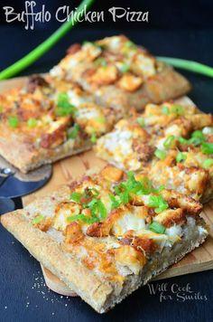 Buffalo-Chicken-Pizza 2 willcookforsmiles.com