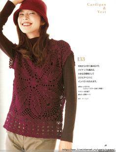 Crochet top square motif