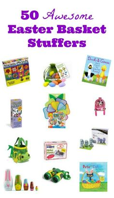 Fun & educational ideas for your Easter Basket -- activities for science, nature, reading & life skills that kids will love!