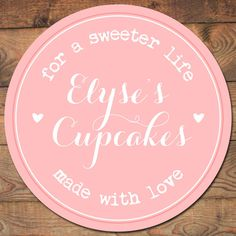 premade logo circular pink hearts bakery by DulceGraceDesigns, $12.50