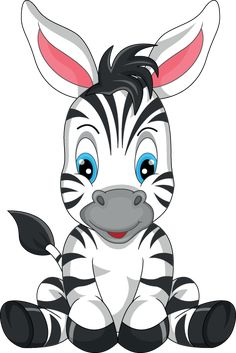 Illustration about Illustration of cute zebra cartoon. Illustration of hoof, gift, mascot - 47136019 Cartoon Kunst, Cartoon Art, Cute Cartoon, Zebras, Cute Drawings, Animal Drawings, Cute Images, Cute Pictures, Zebra Cartoon