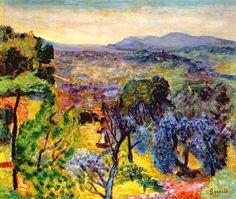 Pierre Bonnard -  Le Cannet Landscape