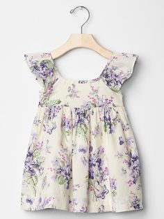 Floral butterfly flutter dress Product Image: