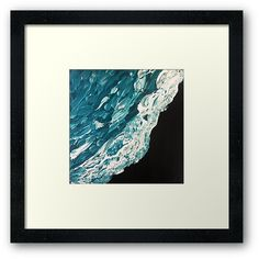 'Black Shores Abstract Ocean Art Painting' Framed Print by lukedwyerartist Wall Prints, Framed Art Prints, Canvas Prints, Coastal Art, Ocean Art, Beach Art, Painting Frames, Art Boards, Duvet Covers