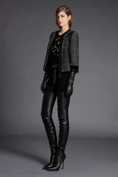 Andrew Gn Black Leather Crotch High Boots and Leather Gloves, from the Pre Fall 2012 Look Book. Runway Fashion, Girl Fashion, Fashion Show, Womens Fashion, Fashion Design, Crotch Boots, Black Leather Gloves, Leather Pants, Leather Jackets