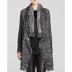 Famous for their effortless sophistication, Vince uses the finest quality fabrics to create their luxury staples. Fringe Cardigan, Tweed, Duster Coat, Kimono Top, Luxury Fashion, Polyvore, Sweaters, Jackets, Shopping