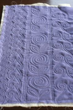 Free motion quilting Tutorial. Excellent breakdown of patterns