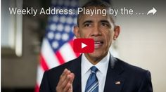Weekly Address: Playing by the Same Rules