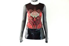 vintage 90s india Ethnic CYBER Goth sheer mesh Top by hella90s, $38.00