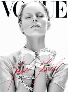 Vogue Mexico/Latin America June 2012 - Karolina Kurkova hotographed by Nagi Sakai (second page cover). Styling by Sarah Gore Reeves and art direction by John Paul Tran. Vogue Covers, Vogue Magazine Covers, Fashion Magazine Cover, Fashion Cover, Fashion Art, Editorial Fashion, Fashion Models, Fashion Brands, Fashion Design