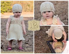 Crochet Baby Dress and Hat, Easter Sunday Church Dress and Hat, 6-12 Months only by Little Bits (shoplittlebits) on Etsy