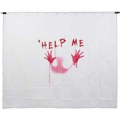Spooky Hollow Creepy Shower Curtain Multicoloured
