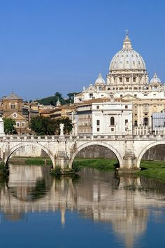 Tiber River & St Peters Cathedral