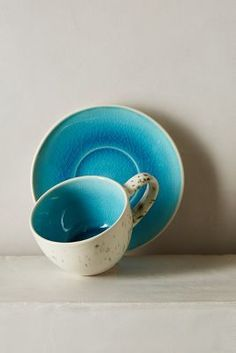 Anthropologie Scattered Seas Cup & Saucer #anthrofave #anthropologie
