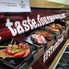 Dinner is served! Getting ready to serve the #DTLA Art Walk from our #FSTasteTruck.