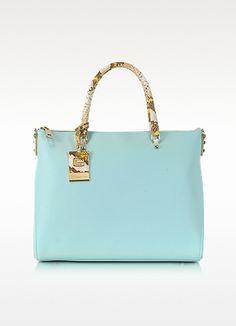 Roberto+Cavalli+Class+Angelite+Light+Blue+Tote+Bag