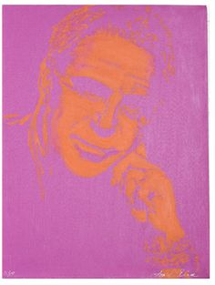 Donald, by Lisa Pliner in Fuchsia and Orange (Canvas)