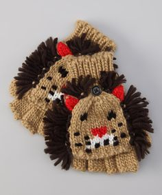 Take a look at this Brown Lion Gloves on zulily today!