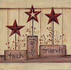 country stars, I have some red, white and blue stars, I may try with different sayings on the wood.