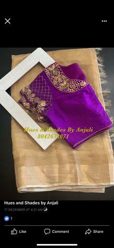 Simple Blouse Designs, Silk Saree Blouse Designs, Bridal Blouse Designs, Nice Designs, Designer Blouse Patterns, Dress Patterns, Maggam Work Designs, Kurti, Embroidery Blouses