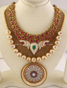 Big Gold Necklace Designs, Latest Big Gold Necklace Models, Big Necklace Collections.