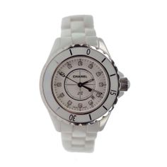Chanel J12 Ceramic Watch in White Authentic with Diamond Dial