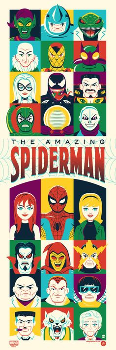"""The Amazing Spider-Man"" - Limited Edition Marvel Comics Movie Poster – Grey Matter Art Comic Book Artists, Comic Book Characters, Comic Books Art, Comic Art, Marvel Dc Comics, Marvel Heroes, Marvel Avengers, Man Character, Comic Character"