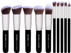 10 pc Kabuki Makeup Brush Set Cosmetic Foundation Blending Blush Eyeliner Face Powder Contouring