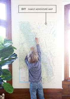 DIY Family Adventure Map Projects