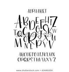 Collection of hand drawn letters. Hand drawn vector al… Collection of hand drawn letters. Isolated on white background. Hand Lettering Alphabet, Doodle Lettering, Hand Drawn Lettering, Creative Lettering, Lettering Styles, Calligraphy Letters, Brush Lettering, Lettering Design, Typography