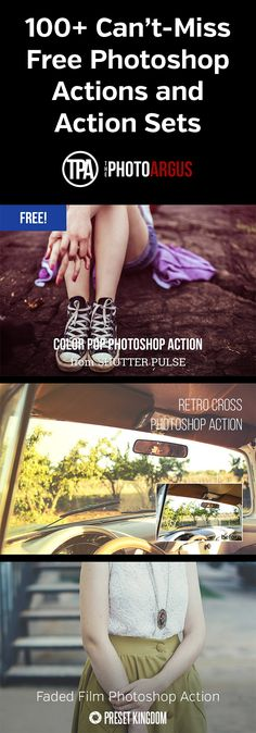 100+ Can't-Miss Free Photoshop Actions and Action Sets