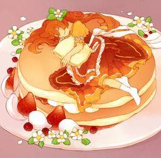 chibi food by DAV Manga Anime, Anime Chibi, Manga Art, Anime Art, Chibi Kawaii, Chibi Food, Food Drawing, Kawaii Drawings, Noragami