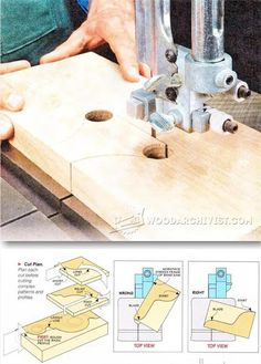 Cutting Curves on Bandsaw - Band Saw Tips, Jigs and Fixtures | WoodArchivist.com