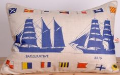 "Ships ""Barquantine"" & ""Brig"" Pillow"