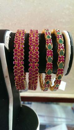 Ruby Emerald Bangles