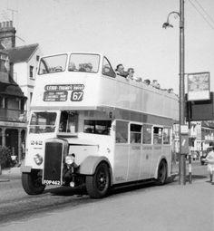 Essex, Southend-on-Sea, Open Top Double Decker Bus in 1959.jpg 1,181×1,280 pixels