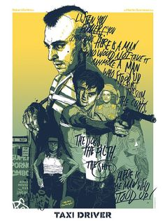 Taxi Driver screen print by Grzegorz Domaradzki from the Scorsese tribute show at New York's Bold Hype Gallery