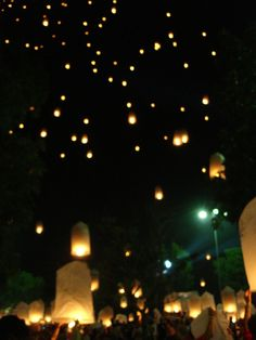 Starry starry night (releasing paper bag lanterns at the end of the night!)