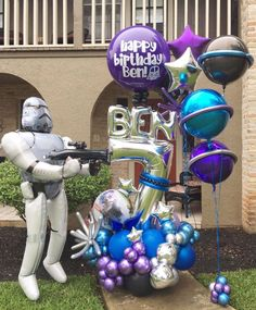 Star Wars Balloons, Its A Boy Balloons, Large Balloons, Number Balloons, Letter Balloons, Balloon Arrangements, Balloon Centerpieces, Birthday Balloon Decorations, Birthday Balloons