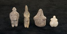 Rare find: The 9000-year-old figurines dug up in Turkey are thought to have been used as educational toys